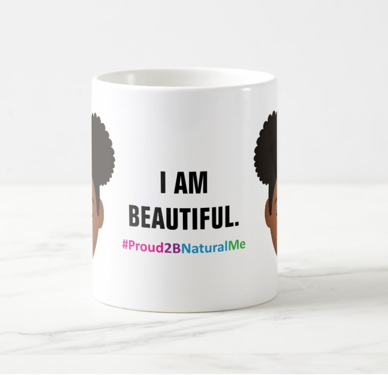 I Am Beautiful Mugs by MDillon Designs